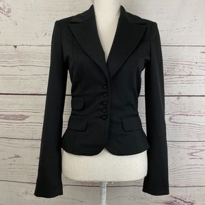 MARCIANO Peplum Mini Button Blazer Jacket